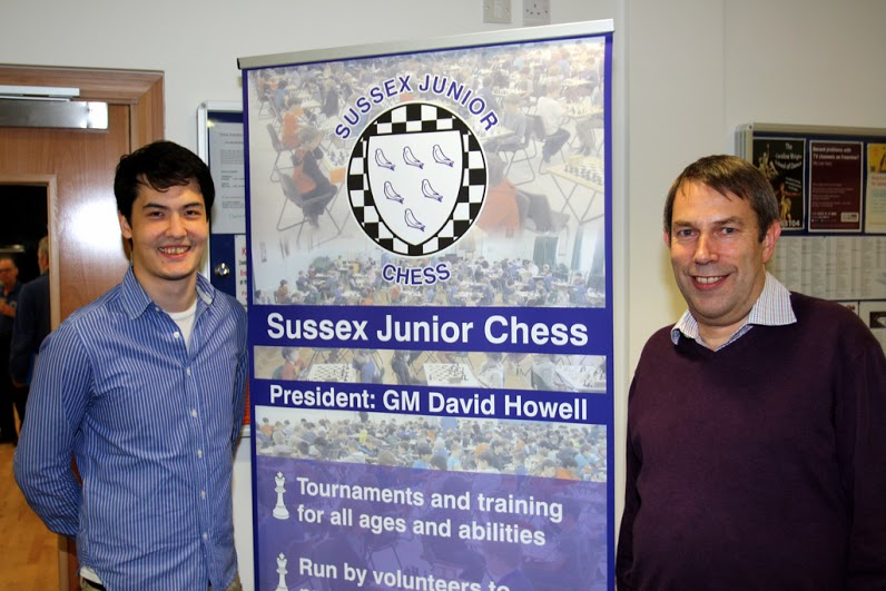 David Howell (left) visits Crowborough welcomed by Jonathan Tuck